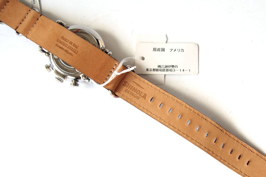 シャイノラ|shinola|時計|ランウェル|ケース径47mm|10気圧防水|クオーツ|グレイ|ウィラード・プログラム|アリゲーターレザーバンド付きイメージ05