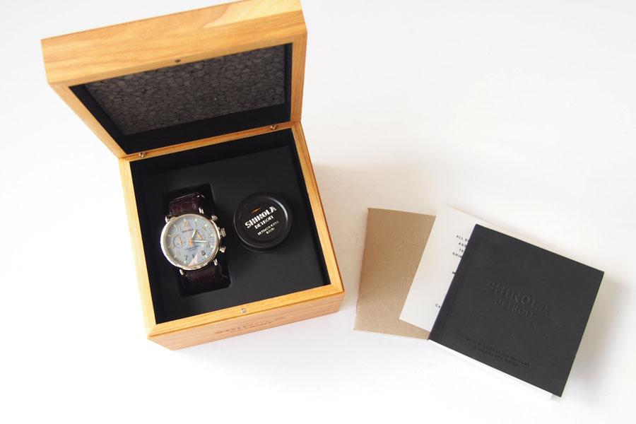 シャイノラ|shinola|時計|ランウェル|ケース径47mm|10気圧防水|クオーツ|グレイ|ウィラード・プログラム|アリゲーターレザーバンド付きイメージ06