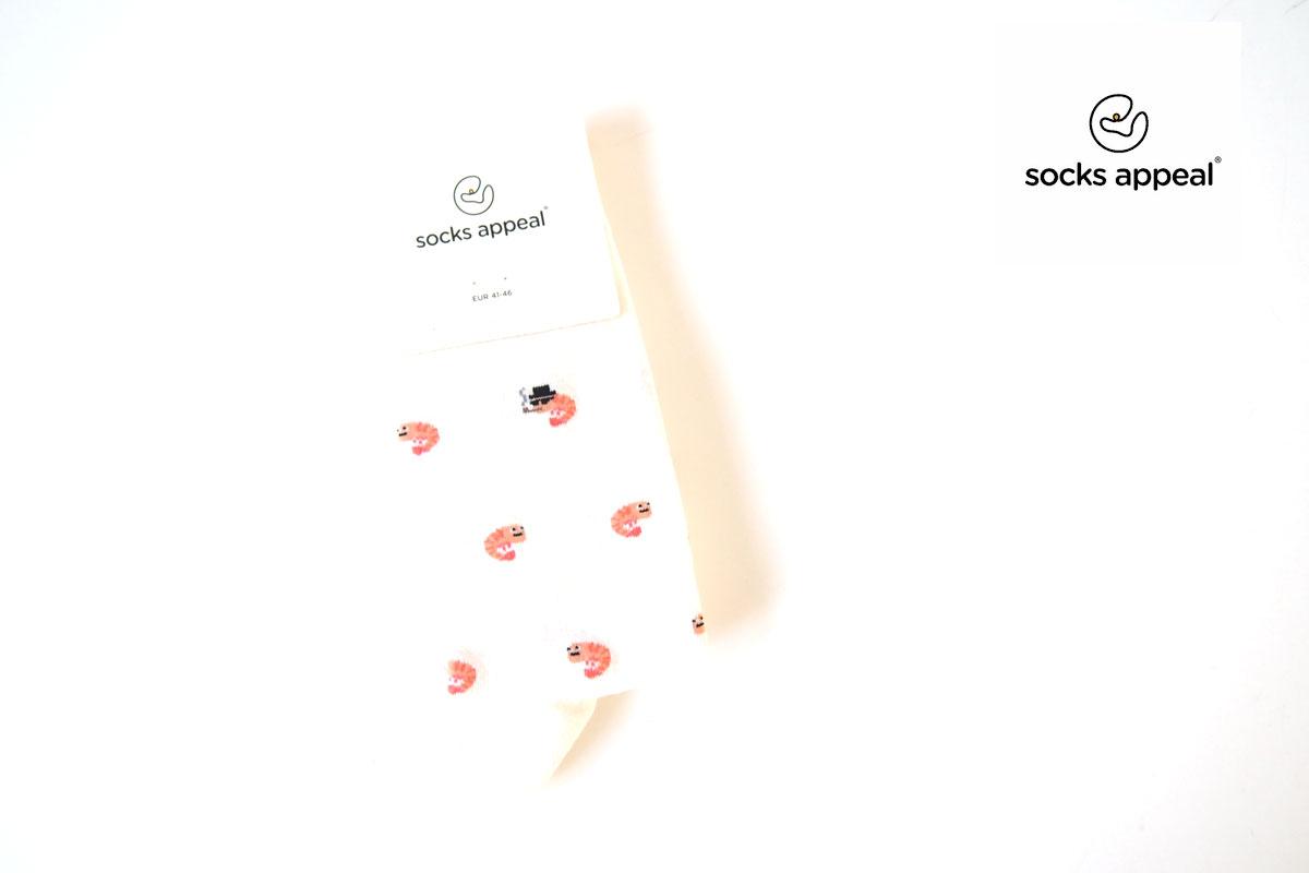 ソックスアピール|sox appeal|クルー丈コットンソックス|SHRIMP|Mサイズイメージ01