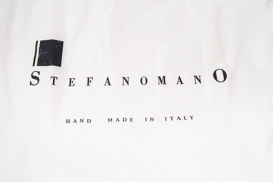 ステファノマーノ STEFANO MANO シュリンクレザーショルダーバック ブラックイメージ02