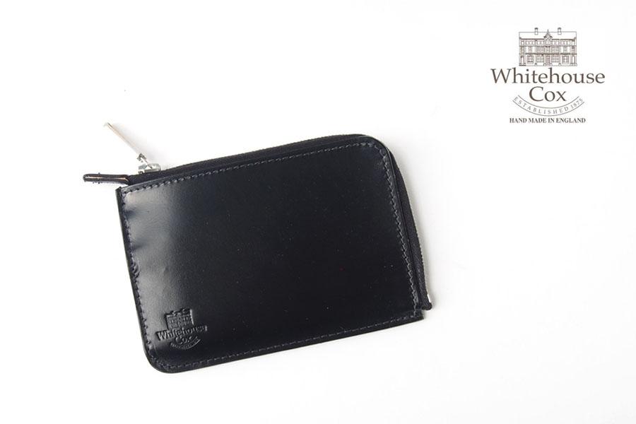 ホワイトハウスコックス|WHITEHOUSE COX|三越銀座店限定|ブライドルレザーLジップスリム財布|S1939|ブラックイメージ01