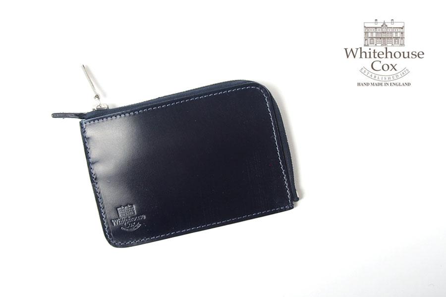 ホワイトハウスコックス|WHITEHOUSE COX|三越銀座店限定|ブライドルレザーLジップスリム財布|S1939|ネイビーイメージ01