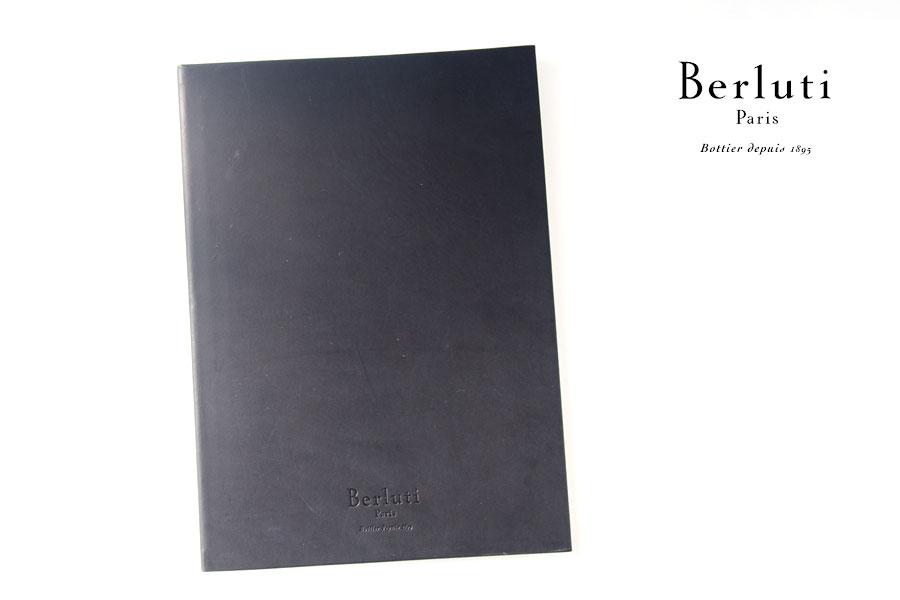 ベルルッティ|Berluti|稀少|顧客限定|非売品革表紙ノベルティノート|手書きアート入り|ブラックイメージ01
