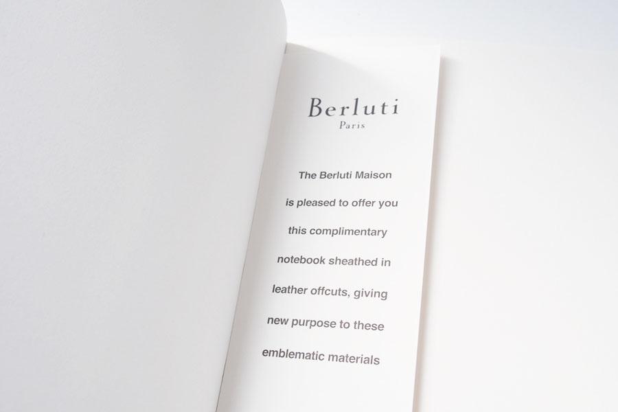 ベルルッティ|Berluti|稀少|顧客限定|非売品革表紙ノベルティノート|手書きアート入り|ブラックイメージ02