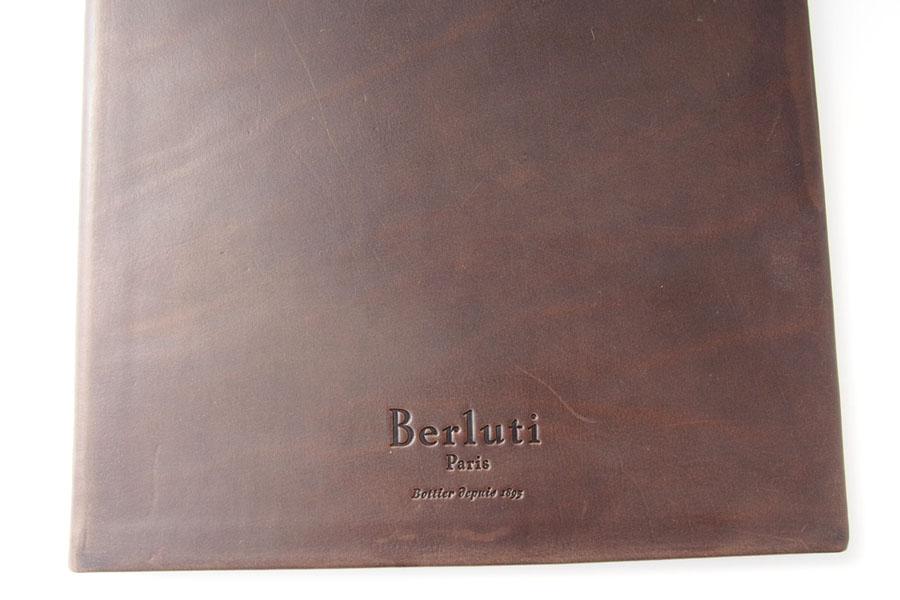 ベルルッティ|Berluti|稀少|顧客限定|非売品革表紙ノベルティノート|手書きアート入り|ブラウンイメージ02