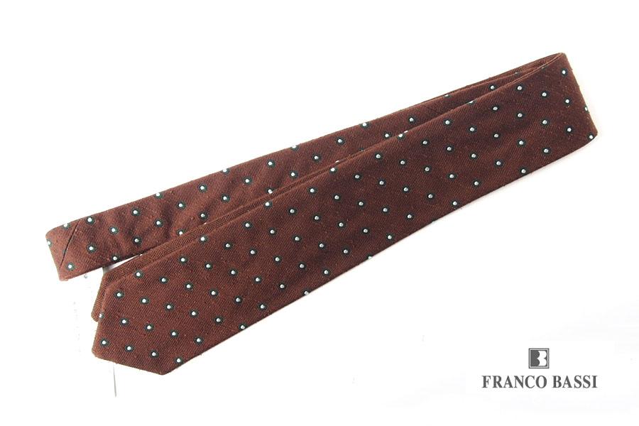 フランコバッシ|Franco Bassi|シルクリバーシブルネクタイ|ブラウンイメージ01