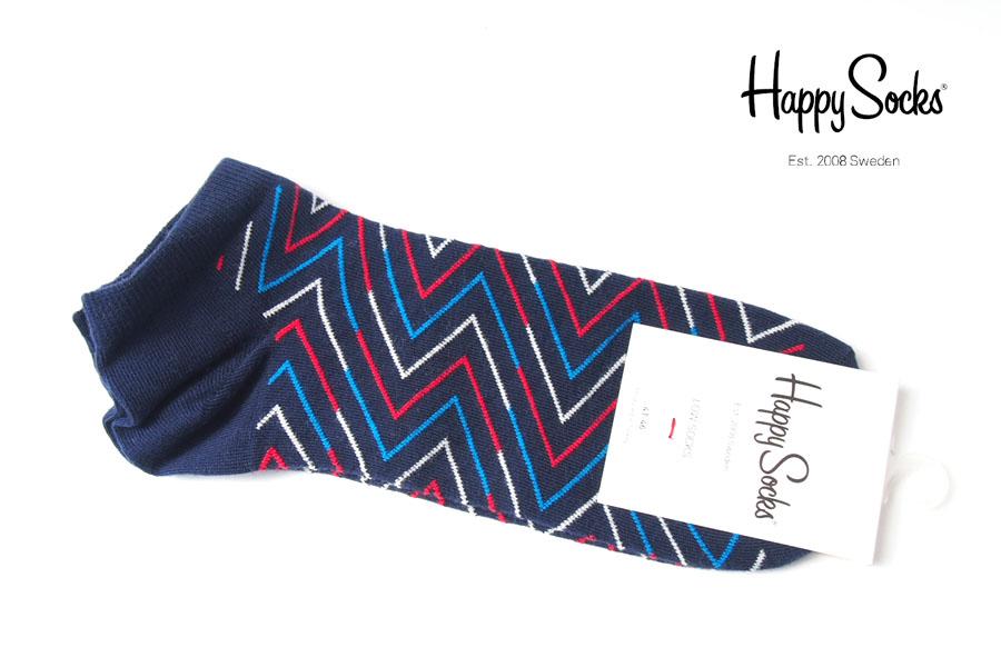 ハッピーソックス|happy socks|ショート丈スニーカーソックス|ライン柄ソックス|ブルー|60-5315イメージ01