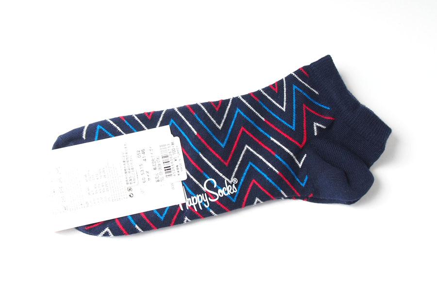 ハッピーソックス|happy socks|ショート丈スニーカーソックス|ライン柄ソックス|ブルー|60-5315イメージ03