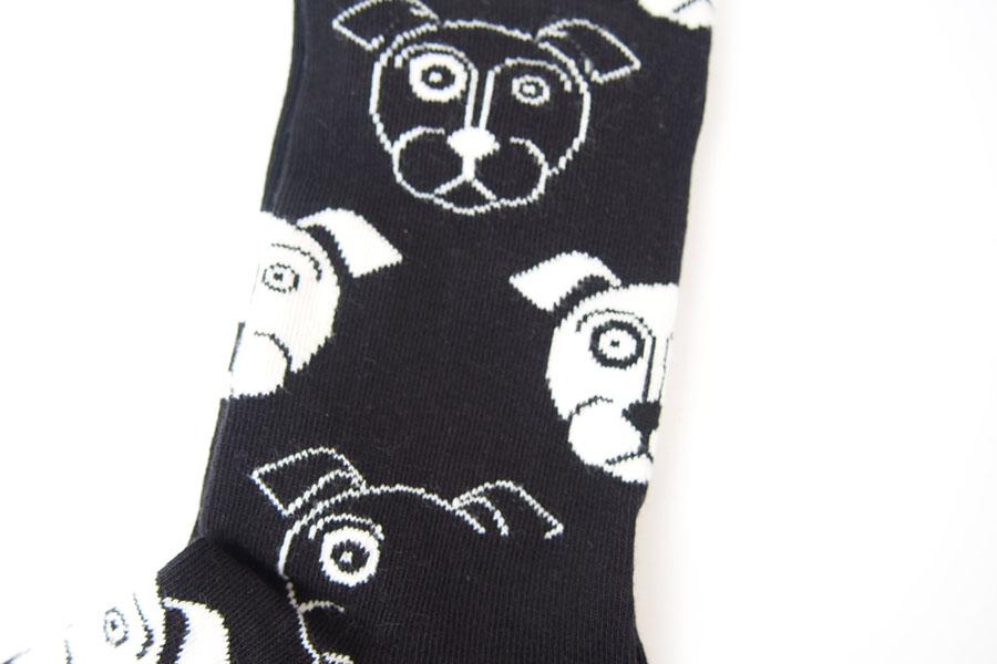 ハッピーソックス happy socks クルー丈カジュアルソックス ドッグ柄ソックス ブラック 10111023イメージ03