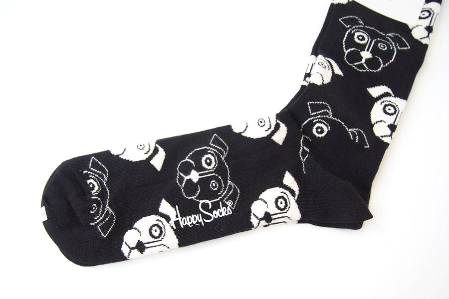 ハッピーソックス happy socks クルー丈カジュアルソックス ドッグ柄ソックス ブラック 10111023イメージ04