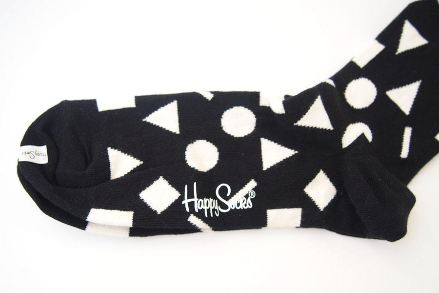 ハッピーソックス|happy socks|クルー丈カジュアルソックス|ビッグハウンドトゥース柄ソックス|モノトーン|60-5086イメージ03
