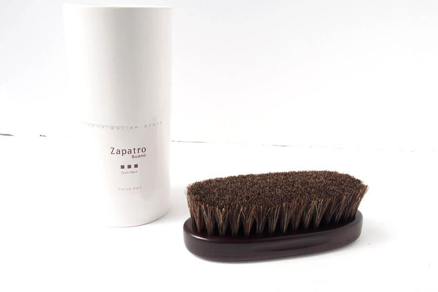 ザパトロ|Zapatro Bueno|ポリッシュブラシセット|ホースヘア×ピッグヘア×クリーム付けブラシ3本|スミブラックイメージ02