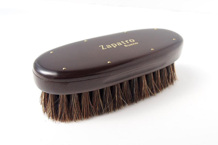 ザパトロ|Zapatro Bueno|ポリッシュブラシセット|ホースヘア×ピッグヘア×クリーム付けブラシ3本|スミブラックイメージ04