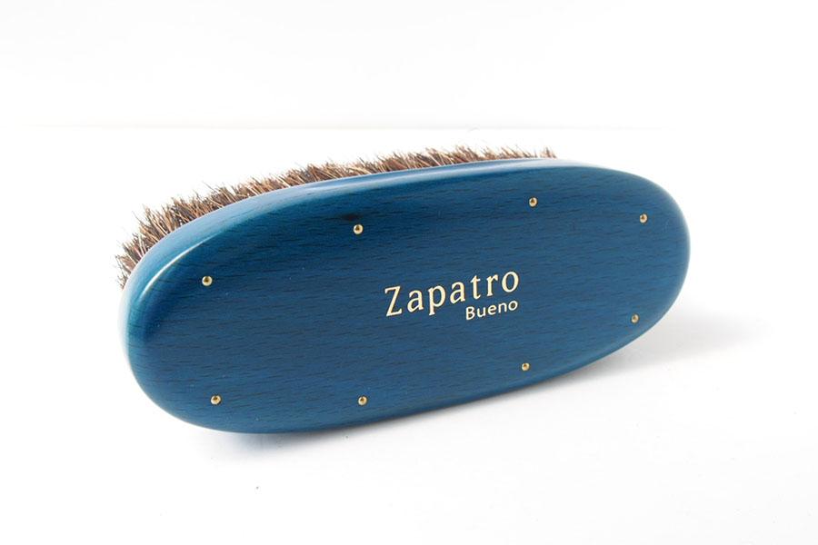 ザパトロ|Zapatro Bueno|ポリッシュブラシセット|ホースヘア×ピッグヘア×クリーム付けブラシ3本|ターコイズブルーイメージ03