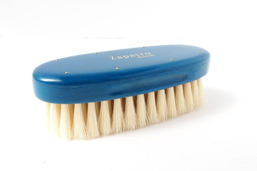 ザパトロ|Zapatro Bueno|ポリッシュブラシセット|ホースヘア×ピッグヘア×クリーム付けブラシ3本|ターコイズブルーイメージ07