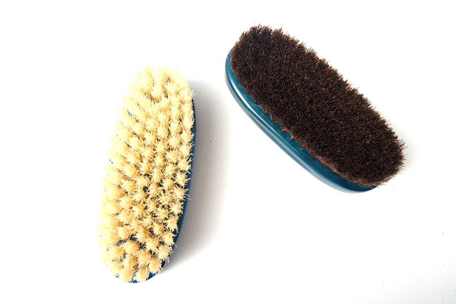 ザパトロ|Zapatro Bueno|ポリッシュブラシセット|ホースヘア×ピッグヘア×クリーム付けブラシ3本|ターコイズブルーイメージ08