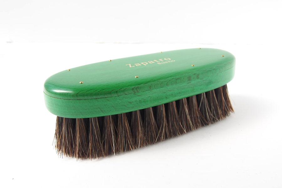 ザパトロ|Zapatro Bueno|ポリッシュブラシセット|ホースヘア×ピッグヘア×クリーム付けブラシ3本|グリーンイメージ03