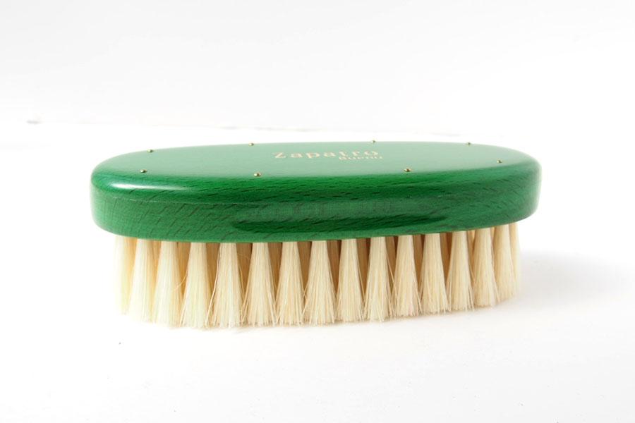 ザパトロ|Zapatro Bueno|ポリッシュブラシセット|ホースヘア×ピッグヘア×クリーム付けブラシ3本|グリーンイメージ06