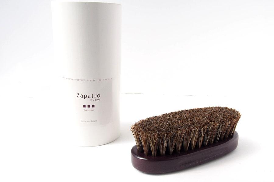 ザパトロ|Zapatro Bueno|ポリッシュブラシセット|ホースヘア×ピッグヘア×クリーム付けブラシ3本|パープルイメージ02