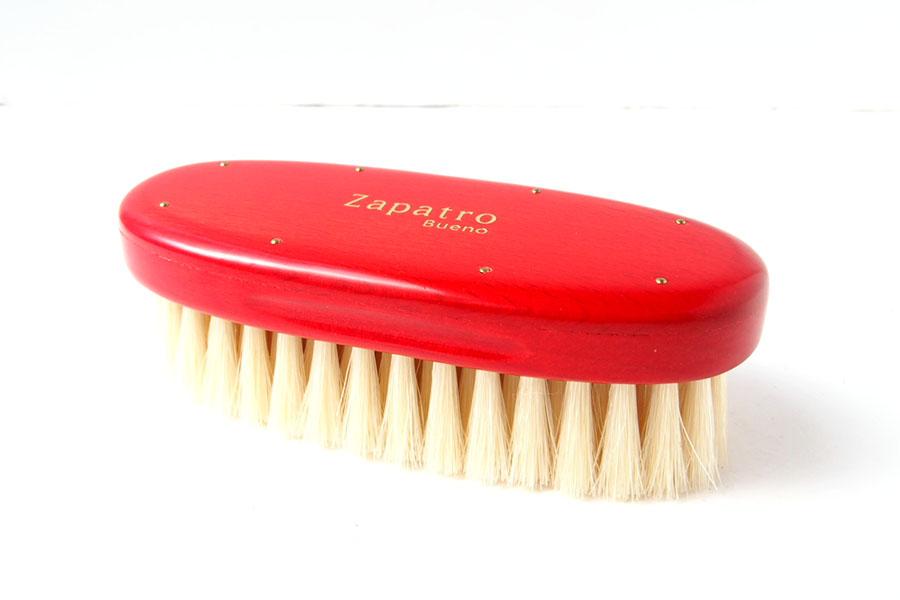 ザパトロ|Zapatro Bueno|ポリッシュブラシセット|ホースヘア×ピッグヘア×クリーム付けブラシ3本|レッドイメージ06