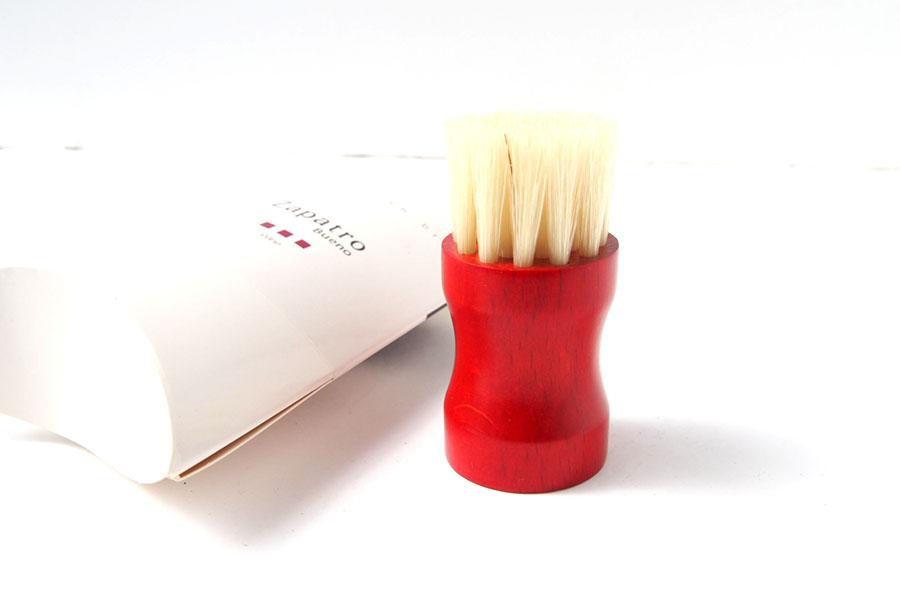 ザパトロ|Zapatro Bueno|ポリッシュブラシセット|ホースヘア×ピッグヘア×クリーム付けブラシ3本|レッドイメージ08