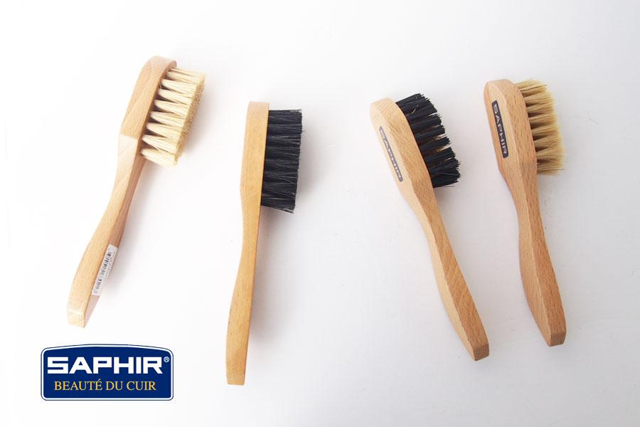 サフィール|SAPHIR|ハンドル付きブラシ4本セット|豚毛ブラシ|スエードブラシイメージ01