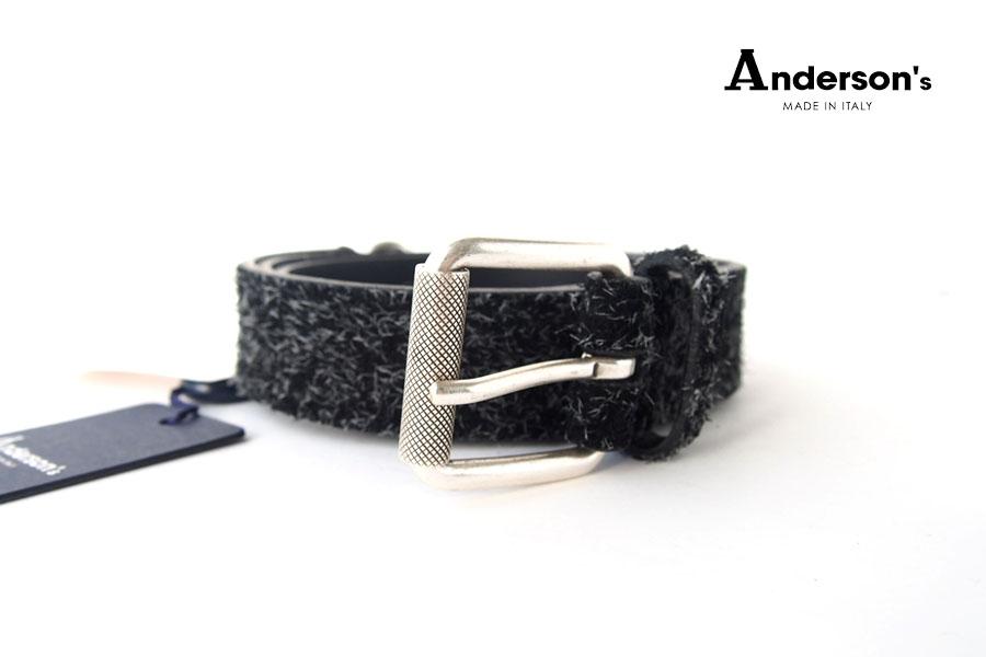 アンダーソンズ|Anderson's|ロングヘアスエードベルト|90|ブラックイメージ01