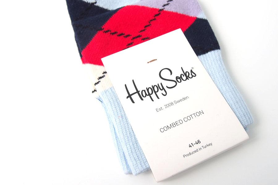 ハッピーソックス|happy socks|クルー丈カジュアルソックス|アーガイル柄ソックスイメージ04