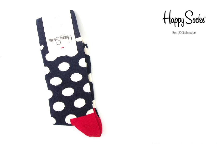 ハッピーソックス|happy socks|クルー丈カジュアルソックス|ドット柄ソックス|Big Dot Sockイメージ01