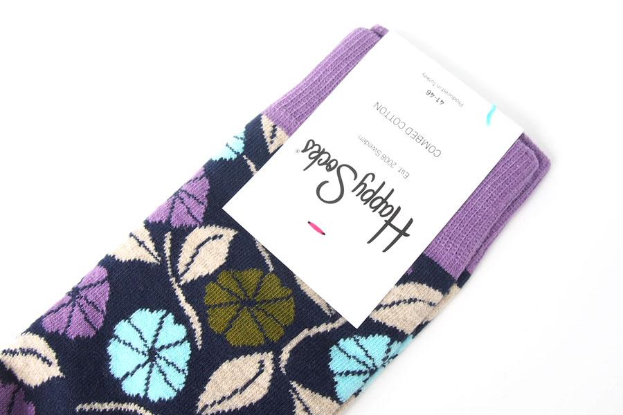 ハッピーソックス|happy socks|クルー丈カジュアルソックス|フラワー柄ソックスイメージ03