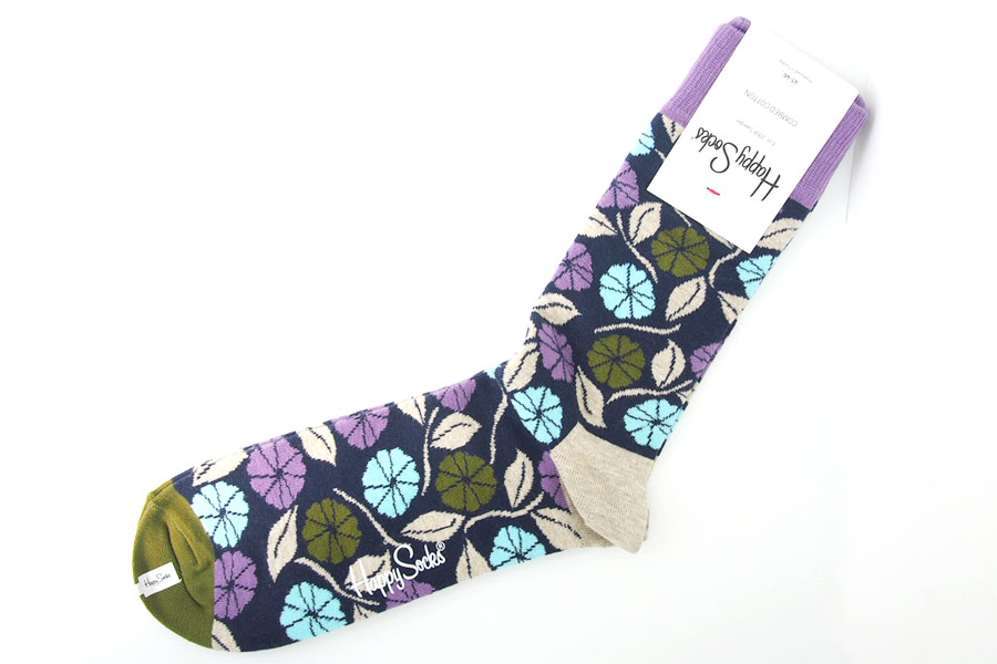 ハッピーソックス|happy socks|クルー丈カジュアルソックス|フラワー柄ソックスイメージ05