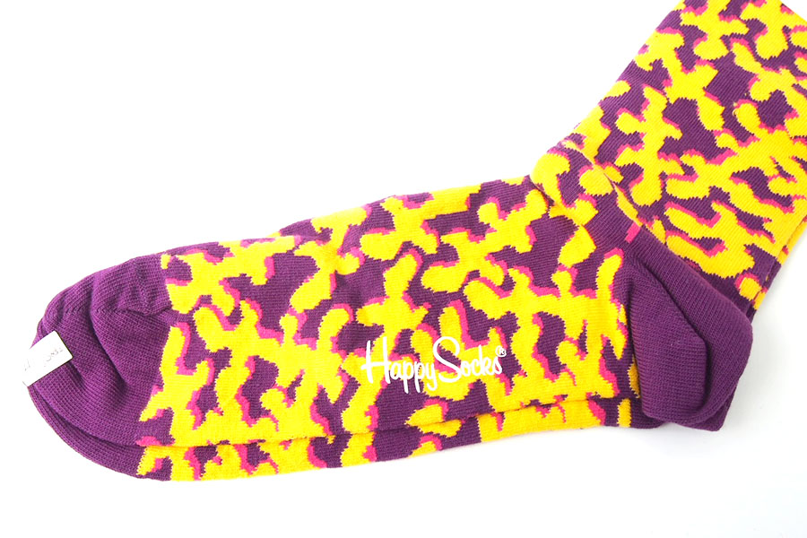 ハッピーソックス|happy socks|クルー丈カジュアルソックス|パープル×イエローイメージ03