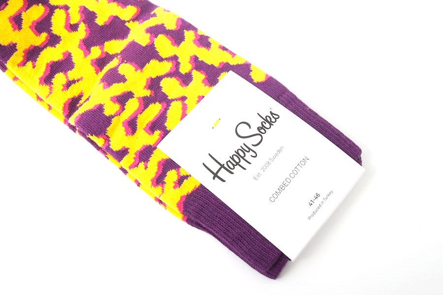 ハッピーソックス|happy socks|クルー丈カジュアルソックス|パープル×イエローイメージ04