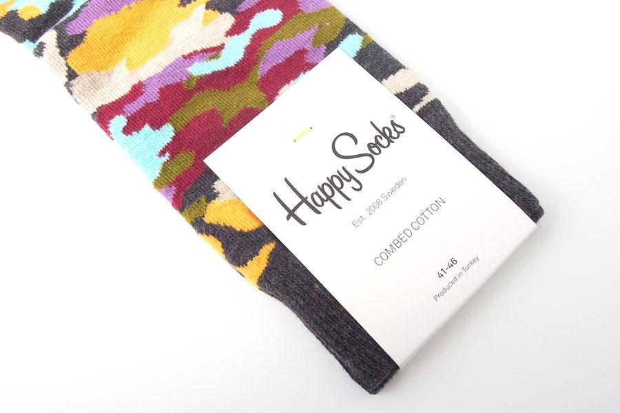 ハッピーソックス happy socks クルー丈カジュアルソックス カモフラ柄イメージ03