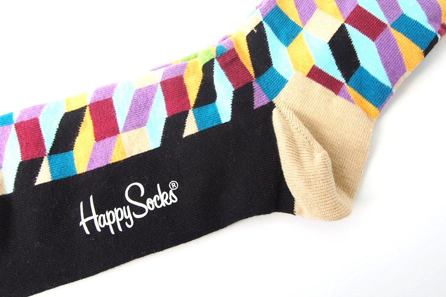 ハッピーソックス|happy socks|クルー丈カジュアルソックス|オプティックソックス|FILLED OPTIC SOCK|マルチイメージ05