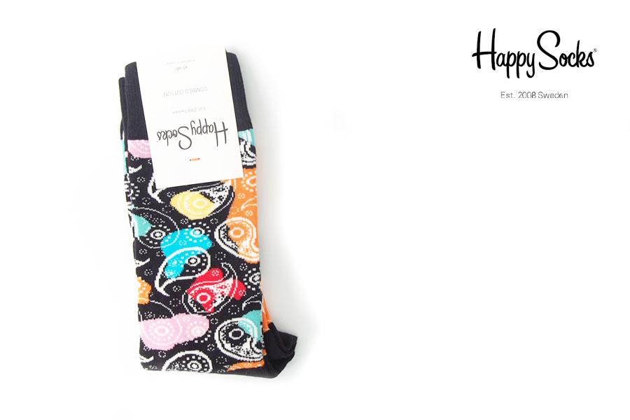 ハッピーソックス|happy socks|クルー丈カジュアルソックス|ペイズリー柄ソックス|MULTIPAISLEYイメージ01