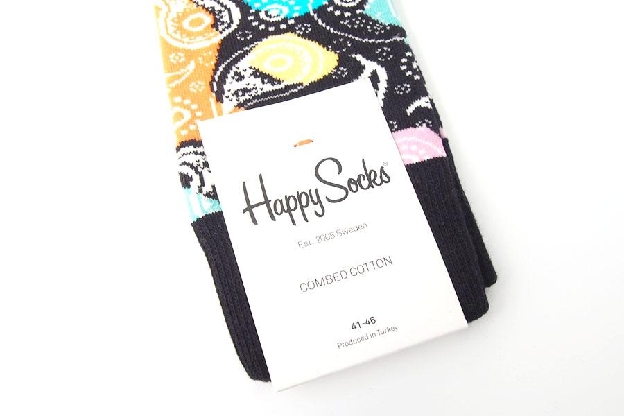 ハッピーソックス|happy socks|クルー丈カジュアルソックス|ペイズリー柄ソックス|MULTIPAISLEYイメージ04