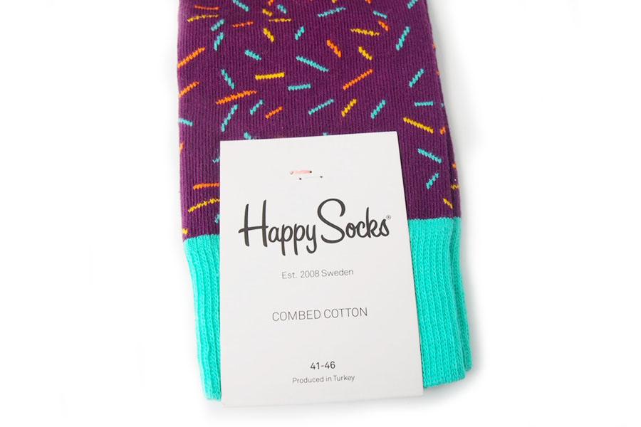 ハッピーソックス|happy socks|クルー丈カジュアルソックス|パープル×オレンジ×ブルーイメージ04