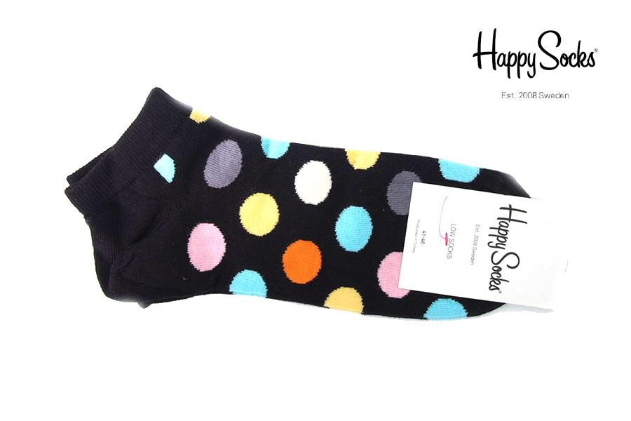 ハッピーソックス|happy socks|ショート丈カジュアルソックス|ビッグドット柄|Big Dot Low Sockイメージ01