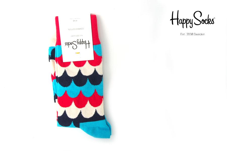ハッピーソックス|happy socks|クルー丈カジュアルソックス|マルチ柄ソックス|トリコロールイメージ01
