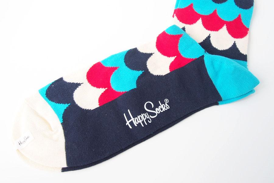 ハッピーソックス|happy socks|クルー丈カジュアルソックス|マルチ柄ソックス|トリコロールイメージ02