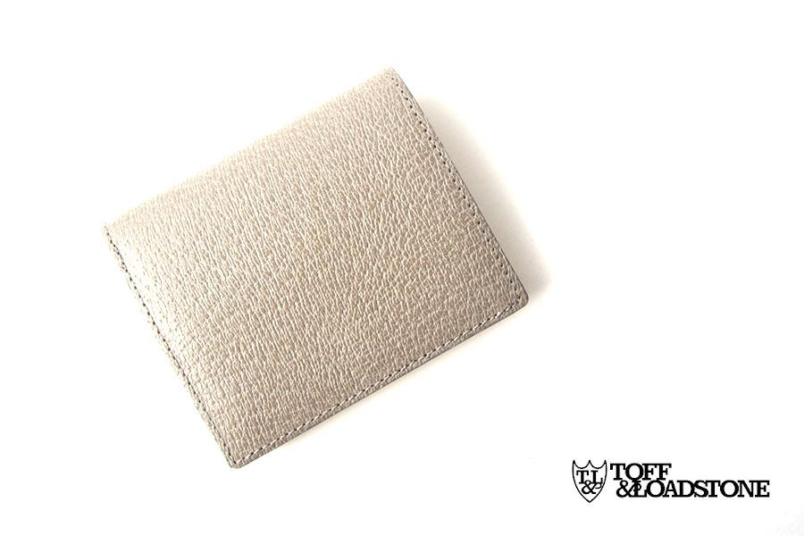 トフアンドロードストン|toffandloadstone|2つ折り財布|ミニウォレット|ペッカリー|Mini wallet Peccary|TMA-039|ベージュイメージ01