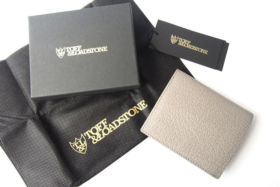 トフアンドロードストン|toffandloadstone|2つ折り財布|ミニウォレット|ペッカリー|Mini wallet Peccary|TMA-039|ベージュイメージ010