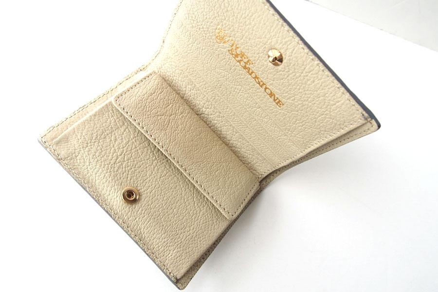 トフアンドロードストン|toffandloadstone|2つ折り財布|ミニウォレット|ペッカリー|Mini wallet Peccary|TMA-039|ベージュイメージ05