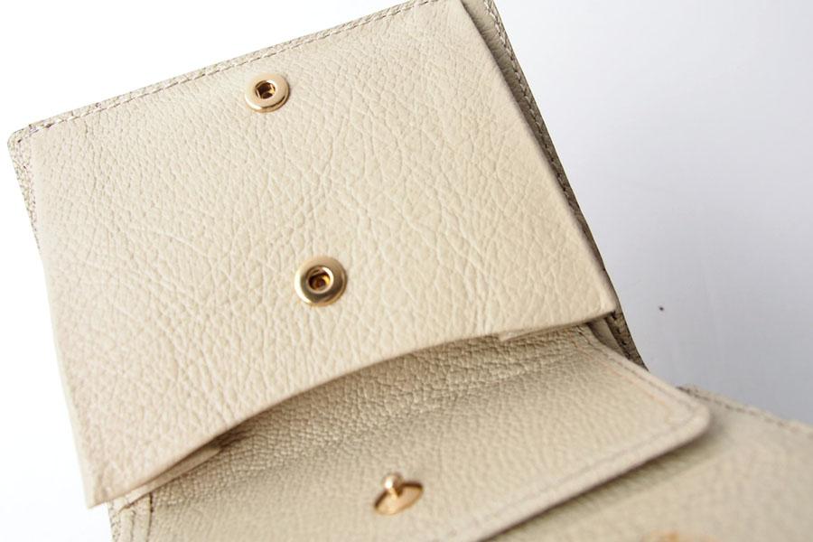 トフアンドロードストン|toffandloadstone|2つ折り財布|ミニウォレット|ペッカリー|Mini wallet Peccary|TMA-039|ベージュイメージ06