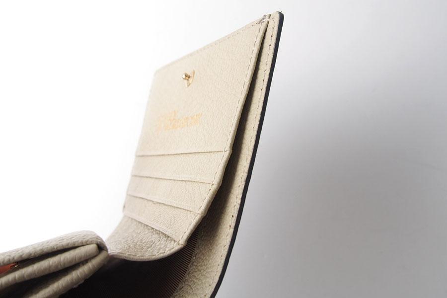 トフアンドロードストン|toffandloadstone|2つ折り財布|ミニウォレット|ペッカリー|Mini wallet Peccary|TMA-039|ベージュイメージ07