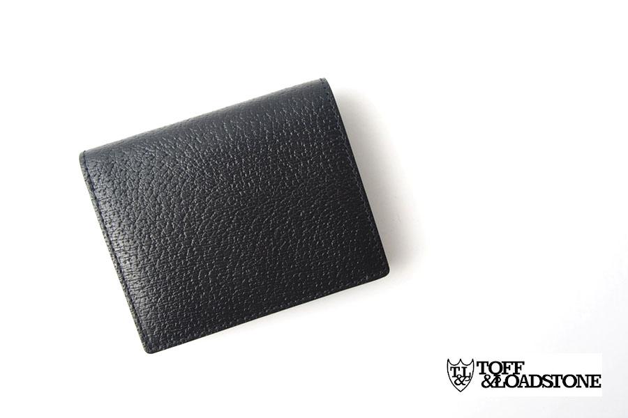 トフアンドロードストン|toffandloadstone|2つ折り財布|ミニウォレット|ペッカリー|Mini wallet Peccary|TMA-039|ブラックイメージ01