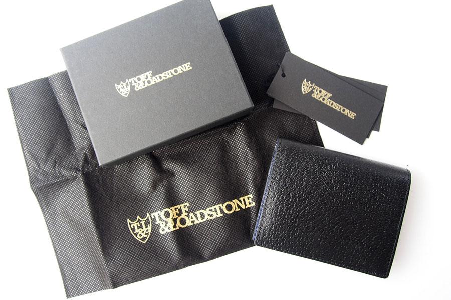 トフアンドロードストン|toffandloadstone|2つ折り財布|ミニウォレット|ペッカリー|Mini wallet Peccary|TMA-039|ブラックイメージ010