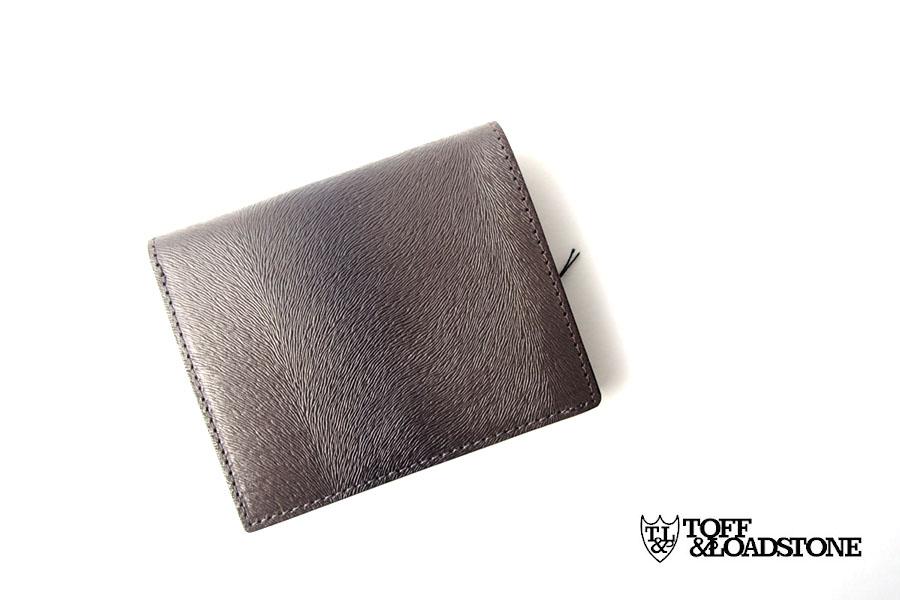 トフアンドロードストン|toffandloadstone|2つ折り財布|ミニウォレット|ミンク型押しレザー|Mini wallet Mink|TMA-046イメージ01