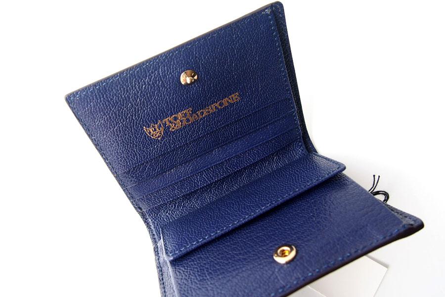 トフアンドロードストン|toffandloadstone|2つ折り財布|ミニウォレット|ミンク型押しレザー|Mini wallet Mink|TMA-046イメージ06